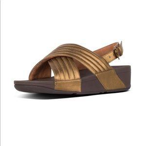 Fitflop lulu padded sandal bronze 6